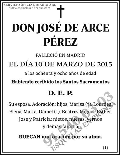 José de Arce Pérez